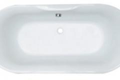 Darwin oval bath 1700x800 Centre waste BM30